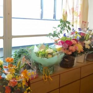 開店祝いでいただいたお花