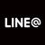 LINE@ロゴモノクロ
