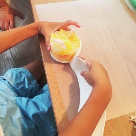 アロマのモザイクキャンドルワークショップ