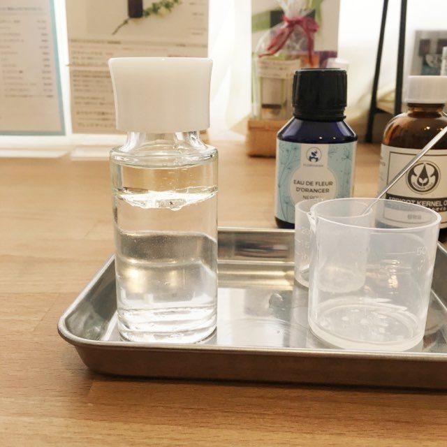 ネロリの芳香蒸留水とアプリコットカーネルオイルの美容ローション